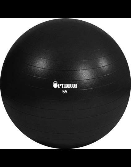 GYM BALL 55CM (BLACK) ANTI-BURST 900GR