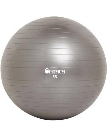 GYM BALL 55CM (GREY) ANTI-BURST 900G