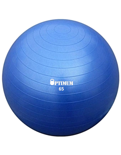 GYM BALL 65CM (ΜΠΛΕ) ANTI-BURST 1100GR