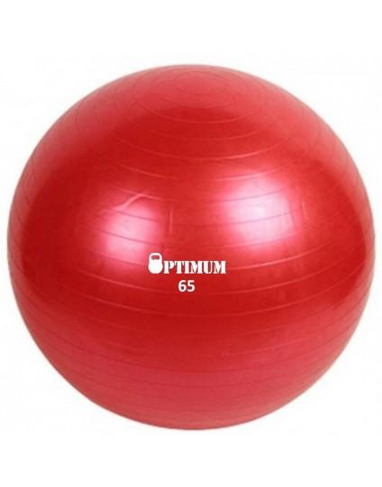 GYM BALL 65CM (ΚΟΚΚΙΝΗ) ANTI-BURST 1100GR