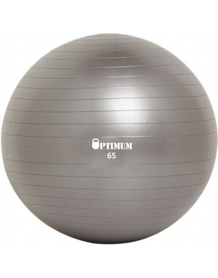 GYM BALL ANTI-BURST 65 CM (1100GR) ΓΚΡΙ