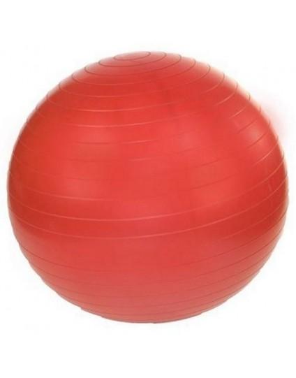 GYM BALL 55 CM ΚΟΚΚΙΝΗ ΜΕ ΤΡΟΜΠΑ (RAMOS)