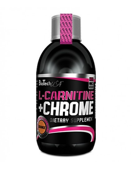 L-CARNITINE + CHROME 500ML BIOTECH USA